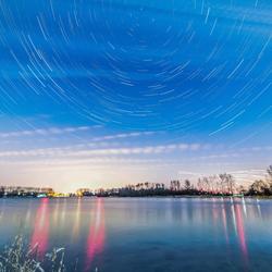Stars above the lake