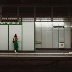 Vrouw in groen
