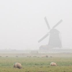 Molenviergang in de mist -2-