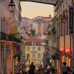 Warme zomeravond in Lissabon