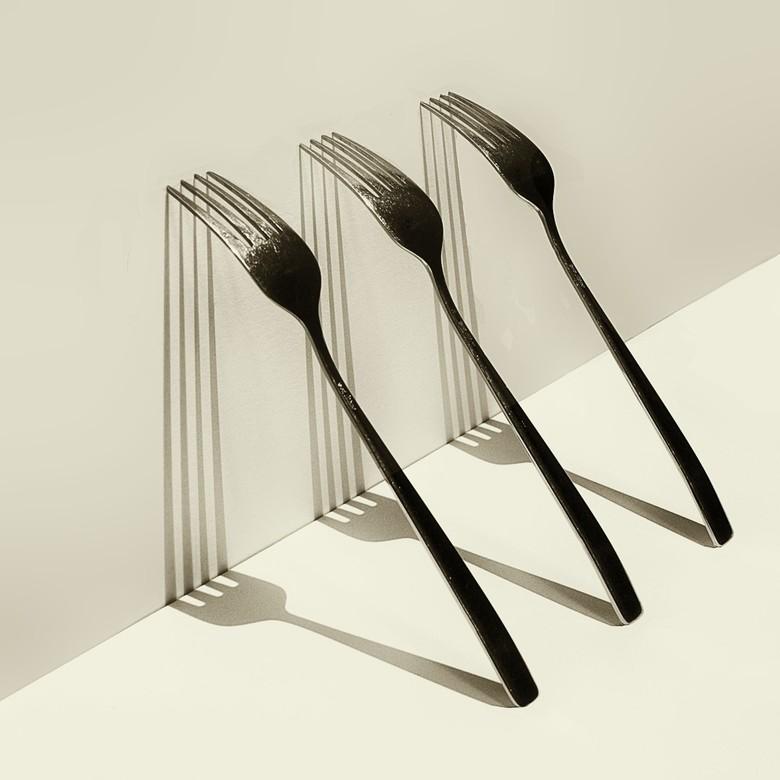 abstract met 3 vorken - Hoe simpel kan het zijn.
