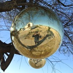 Kerstboom op Ilha de Cultura (bij Faro, Portugal)