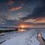Sunrise in de winter