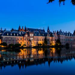Buitenhof at night.  Den Haag