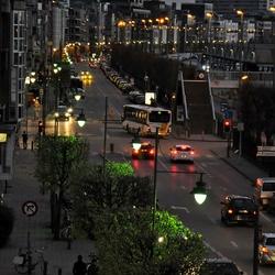 Invallende nacht in Antwerpen