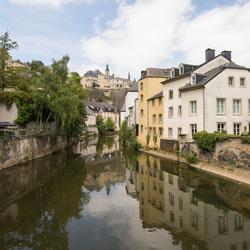 Luxemburg Stad - Rue Münster - Alzette Rivier