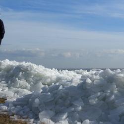 Kruiend ijs Laaksum (Friesland)