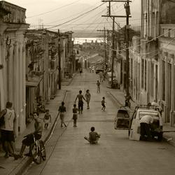Vrolijke chaos in de straten van Santiago...
