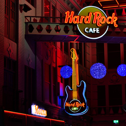 The Hard rock cafe in Manchester(GB)