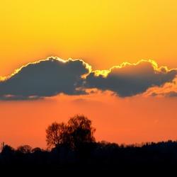 Ondergaande zon april 2014