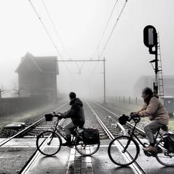 Station Gronsveld in mist