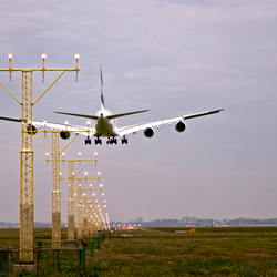 Airbus A380 op Schiphol