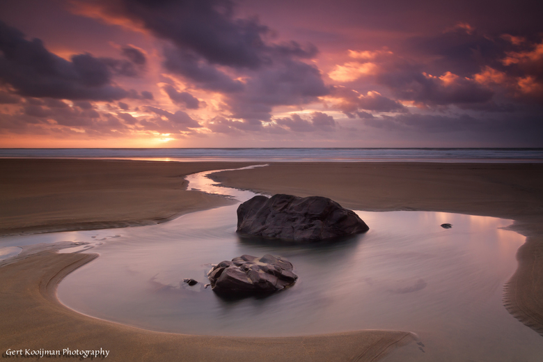 Sandy Mouth sunset