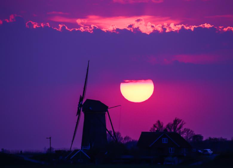 Zonsondergang Rijpwetering -