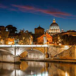 Blue hour, Rome