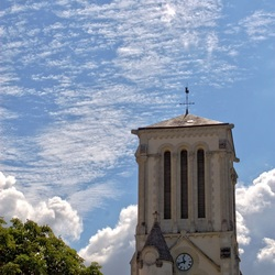 Kerktoren in Frankrijk