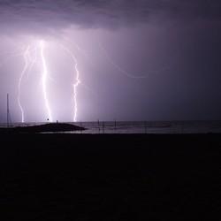 bliksem in Venetie