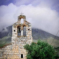 Kerkje in Limeni, Griekenland