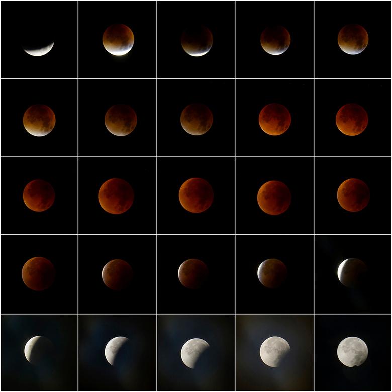 Bloedmaan - De maansverduistering van afgelopen nacht...
