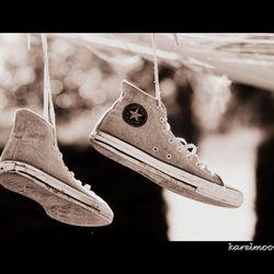 Ben naast mijn schoenen gaan lopen voor deze foto!