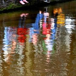 Waterverf schilderijtje in . . .  . . .