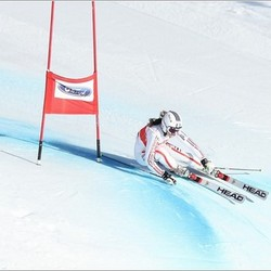 skier in reuzenslalom