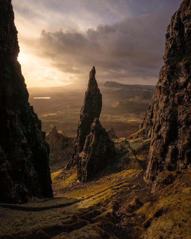 The Needle - Zonsopkomst bij 'The Needle' op Isle of Skye in Schotland.