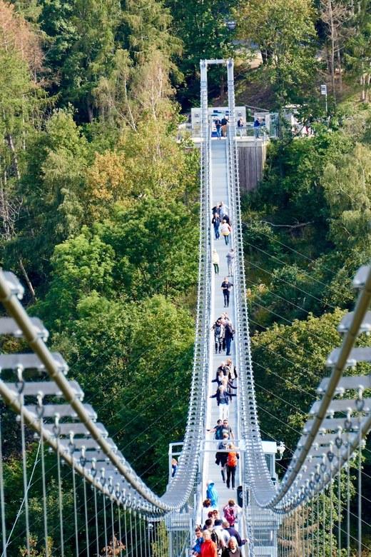 Hangbrug TitanRT-3 - Weekje Harz met bezoek aan deze brug. Bizar perspectief met 210 mm.<br /> Zie ook ander upload op 55 mm voor het verschil.