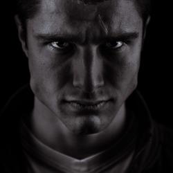 portret black & white