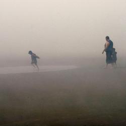 een stranddag in de Mist
