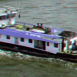 Nieuwe Maas Rotterdam vanaf Erasmusbrug 3D