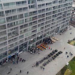 De Markthal van uit the view