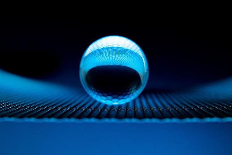 blauwe bol - Kristallen bol blauw