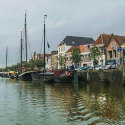 Zwolle vanaf een boot