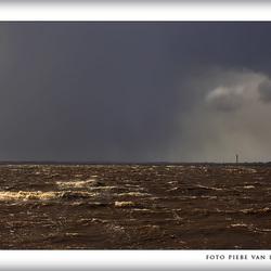 Storm op het Tjeukermeer