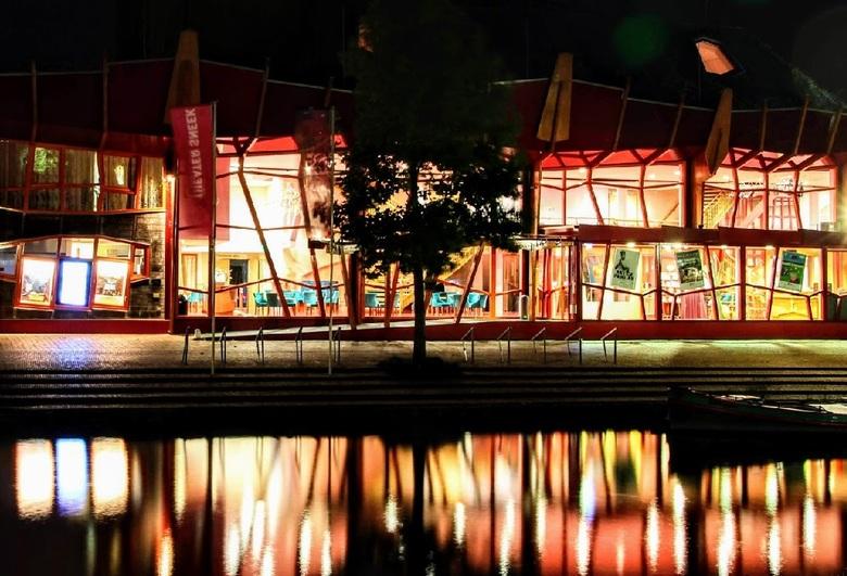 Theater Sneek - Theater Sneek in het donker gefotografeerd tijdens cursusavond.