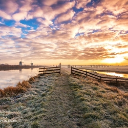 Winterochtend in Kinderdijk