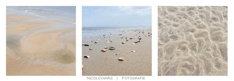 On the beach. - Het zachte lentelicht scheen over het strand.  Compleet in pastelkleuren vond ik de mooiste structuren tijdens eb.<br /> <br /> Texe