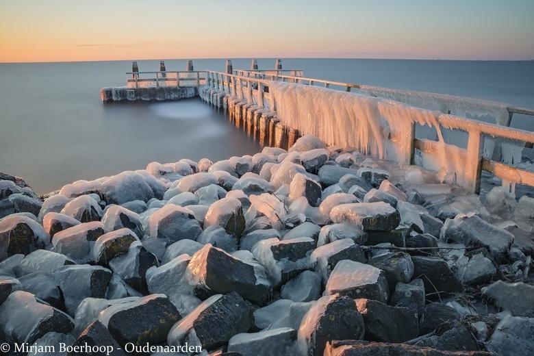 Koud hè - Een ijskoude morgen. Maar wat ontzettend mooi.
