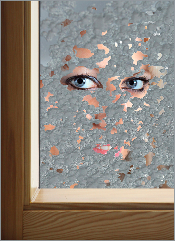 """wat zien ik.. - inkijkje door een """"behageld"""" raam"""