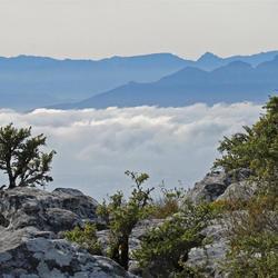wolken om de Tafelberg