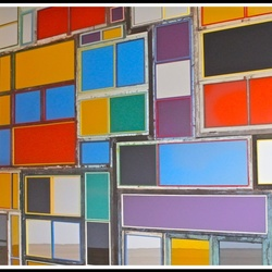Colorful mirrors on the wall ...