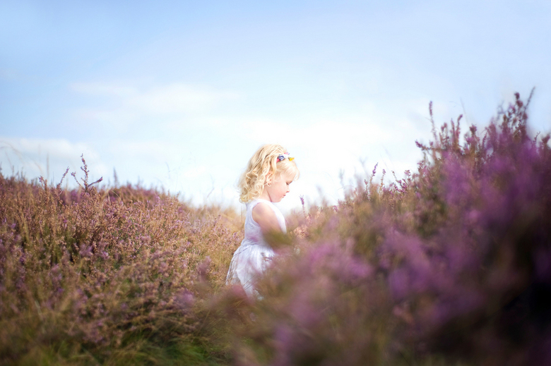 Zorgenloos - Onlans deed ik een fotoshoot met een meisje van vier op de Hilversumse hei en dit is een van de resultaten. Meer foto's hiervan (en