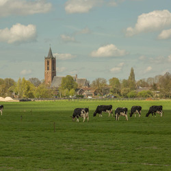 Eemnes vanuit de polder