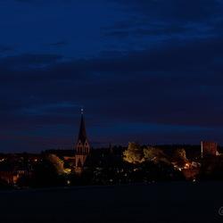 Nachtzicht op Kastellaun (D)