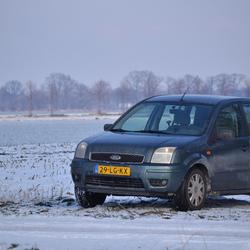 Ford Fusion in de sneeuw!