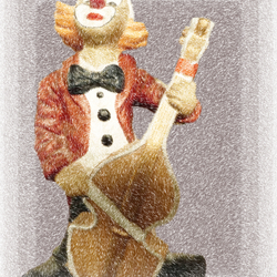 Hij was maar een clown....