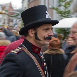 Politie agent uit Dickens tijdperk