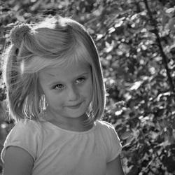 portretje in zwart wit