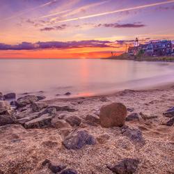 Zonsondergang op Urk